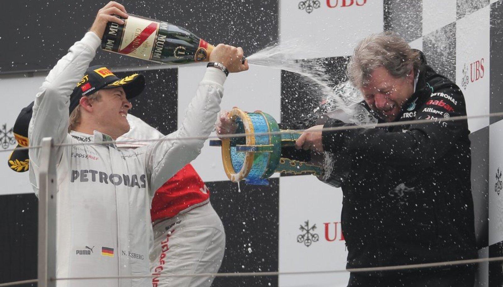 Nico Rosberg ja Norbert Haug