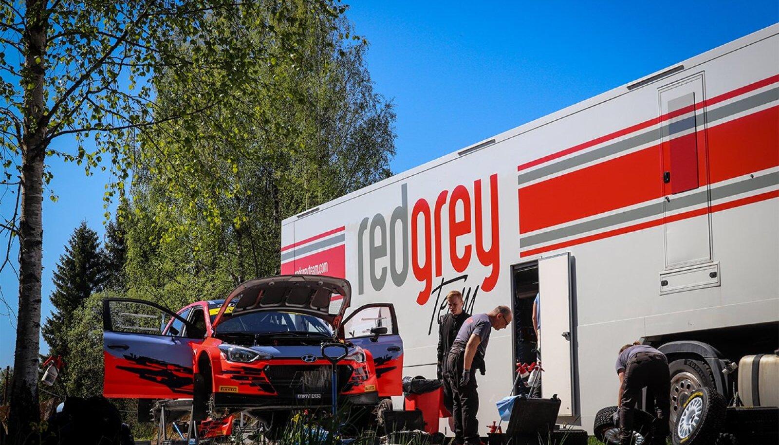 RedGrey Team'i Hyundai i20 NG R5 test Haanjas koos valitseva maailmameistri Ott Tänakuga