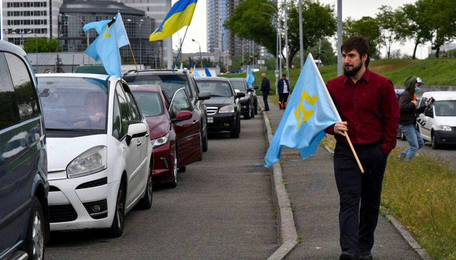 Krimmitatarlaste massiküüditamise mälestamine täna Ukraina pealinnas Kiievis.