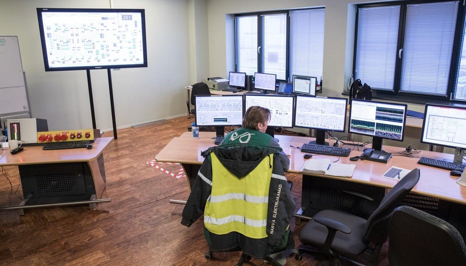 Eesti Energia Auvere elektrijaama juhtimispult.