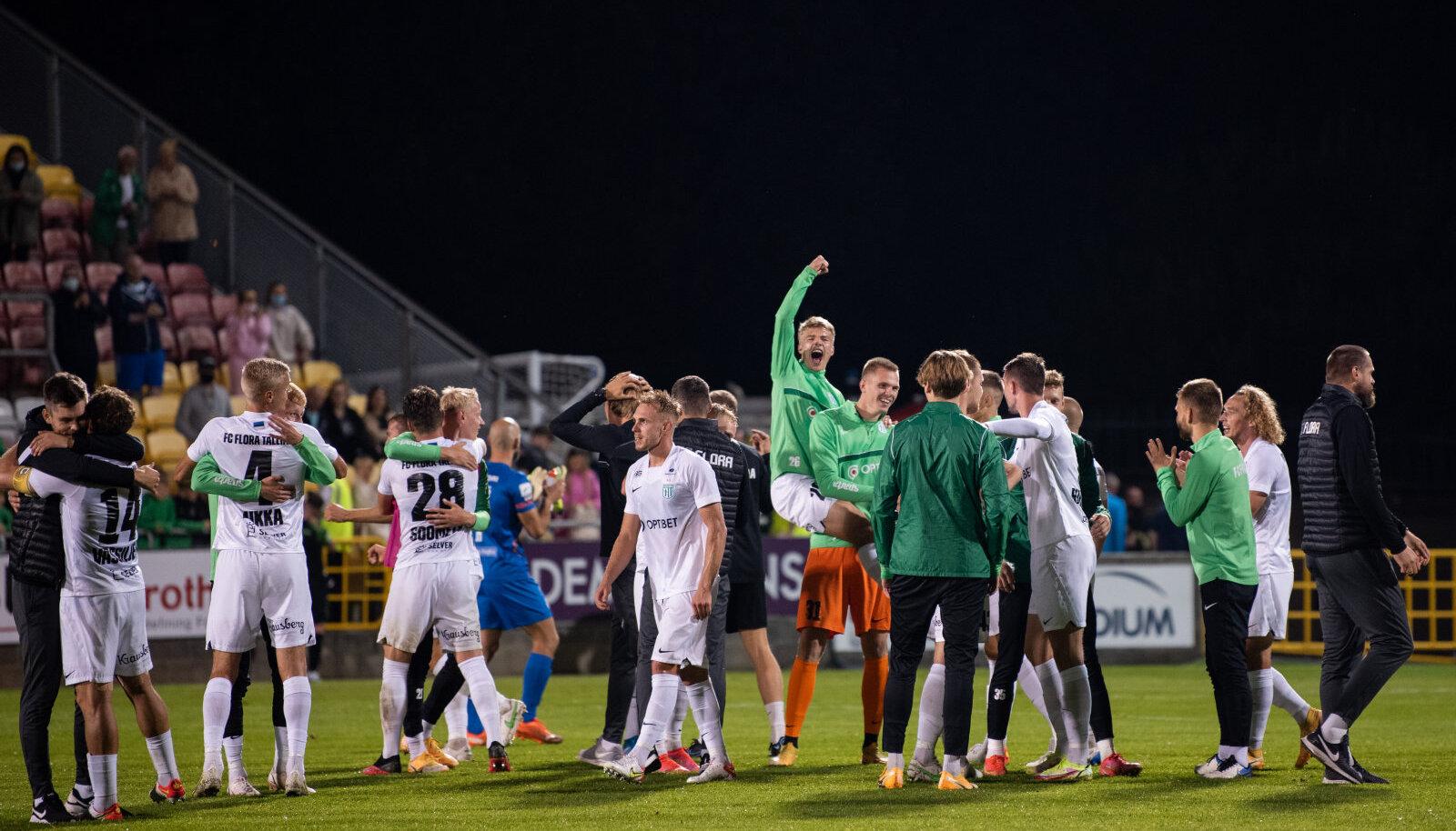 Juubeldamiseks on kuhjaga põhjust: esimese Eesti klubina pääses FC Flora läbi eelringide eurosarjas alagrupiturniirile.