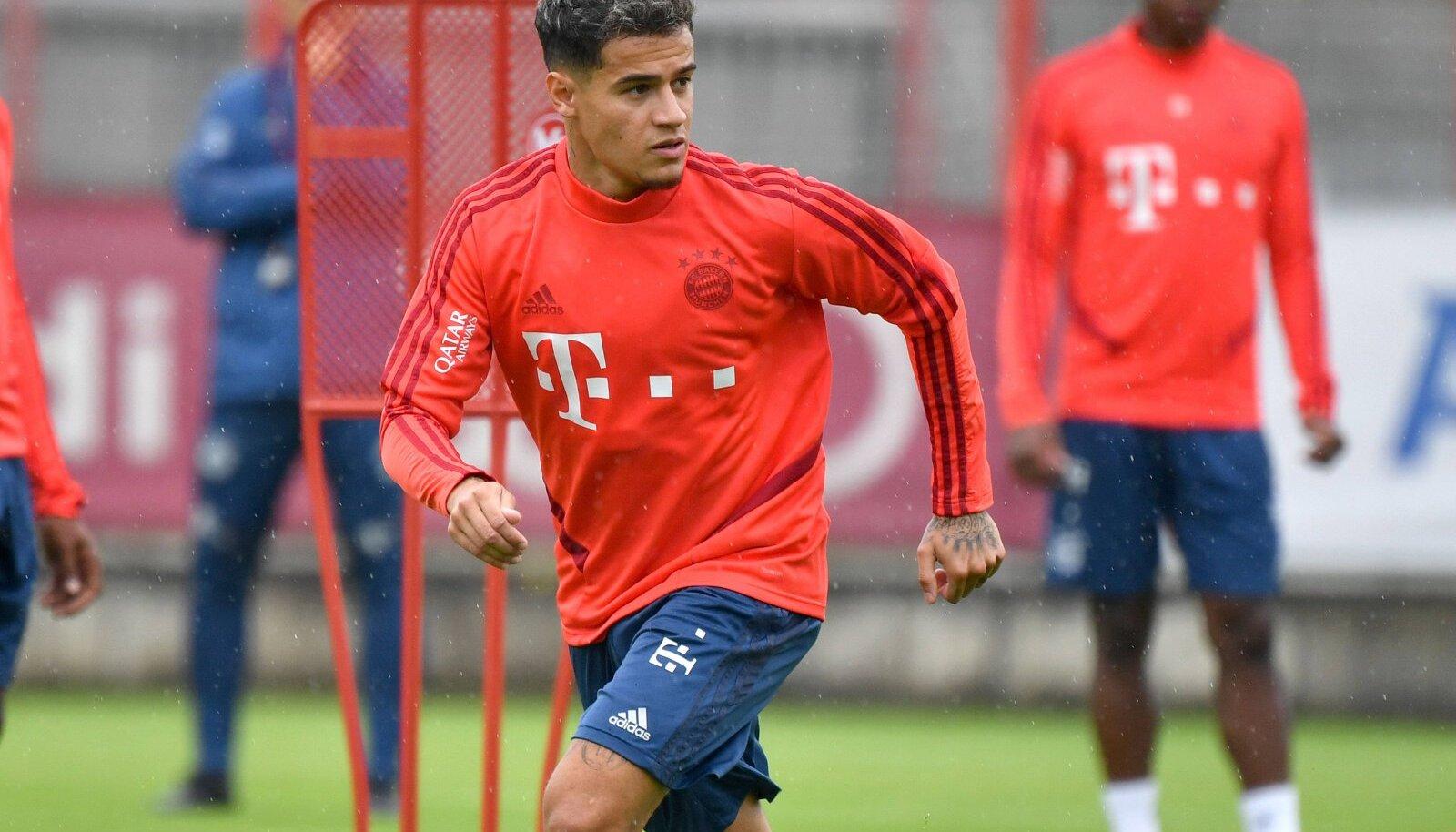 Philippe Coutinho Müncheni Bayerni treeningul