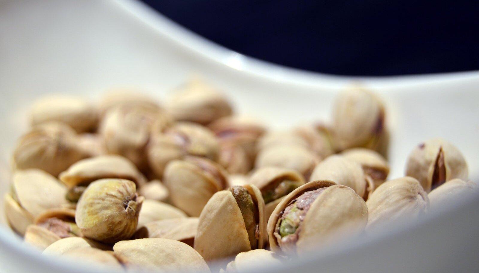 Pistaatsiapähklid sisaldavad palju B1-vitamiini.