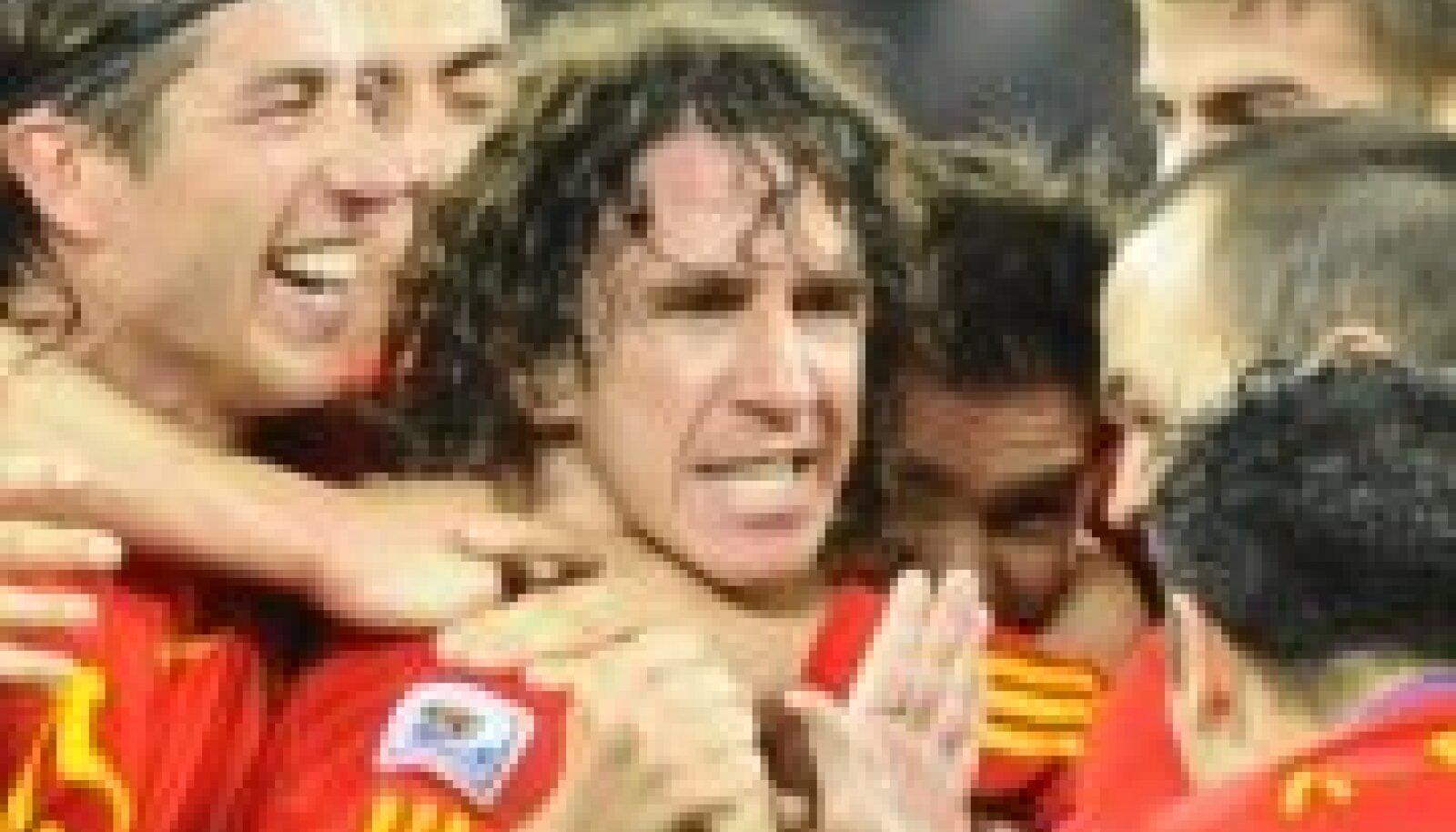 Hispaania jalgpallikoondis, keskel Carles Puyol