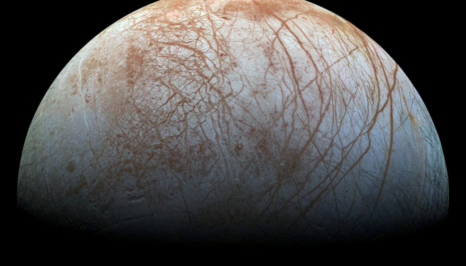 Galileo fotode põhjal tehtud komposiitpilt Europast.