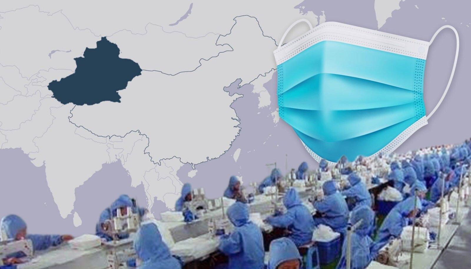 Uiguuride sunnitööga toodetud maske müüakse Eestis rahulikult edasi