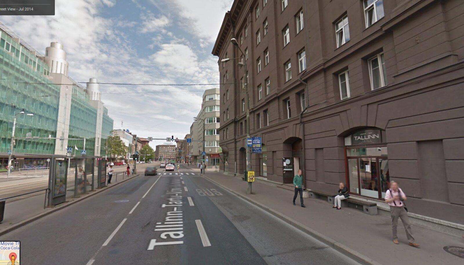 Tallinn, Narva mnt 2 juures (Google Street View ekraanitõmmis)