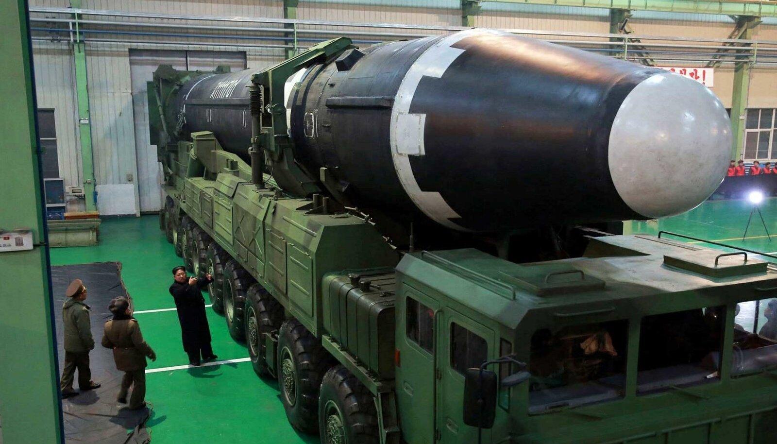 Põhja-Korea rakett Hwasong-15