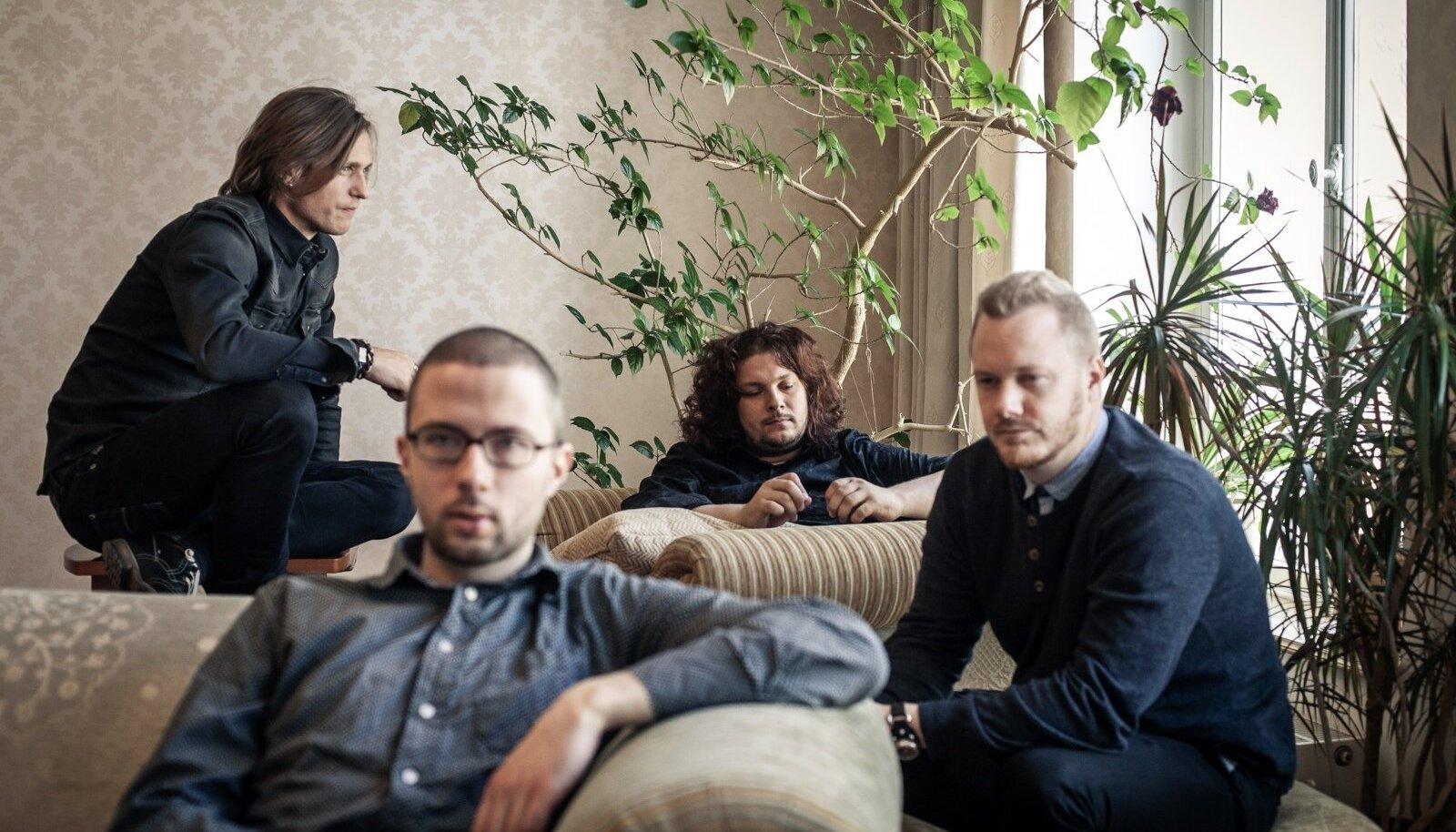 Volli, Kaur, Edward ja Jaagup (vasakult paremale) on tuttavad teismeeast, hilisem elu tõi nad mõne aasta eest kokku ühte bändi.