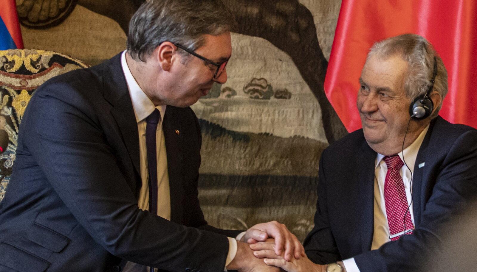 Aleksandar Vučić ja Miloš Zeman