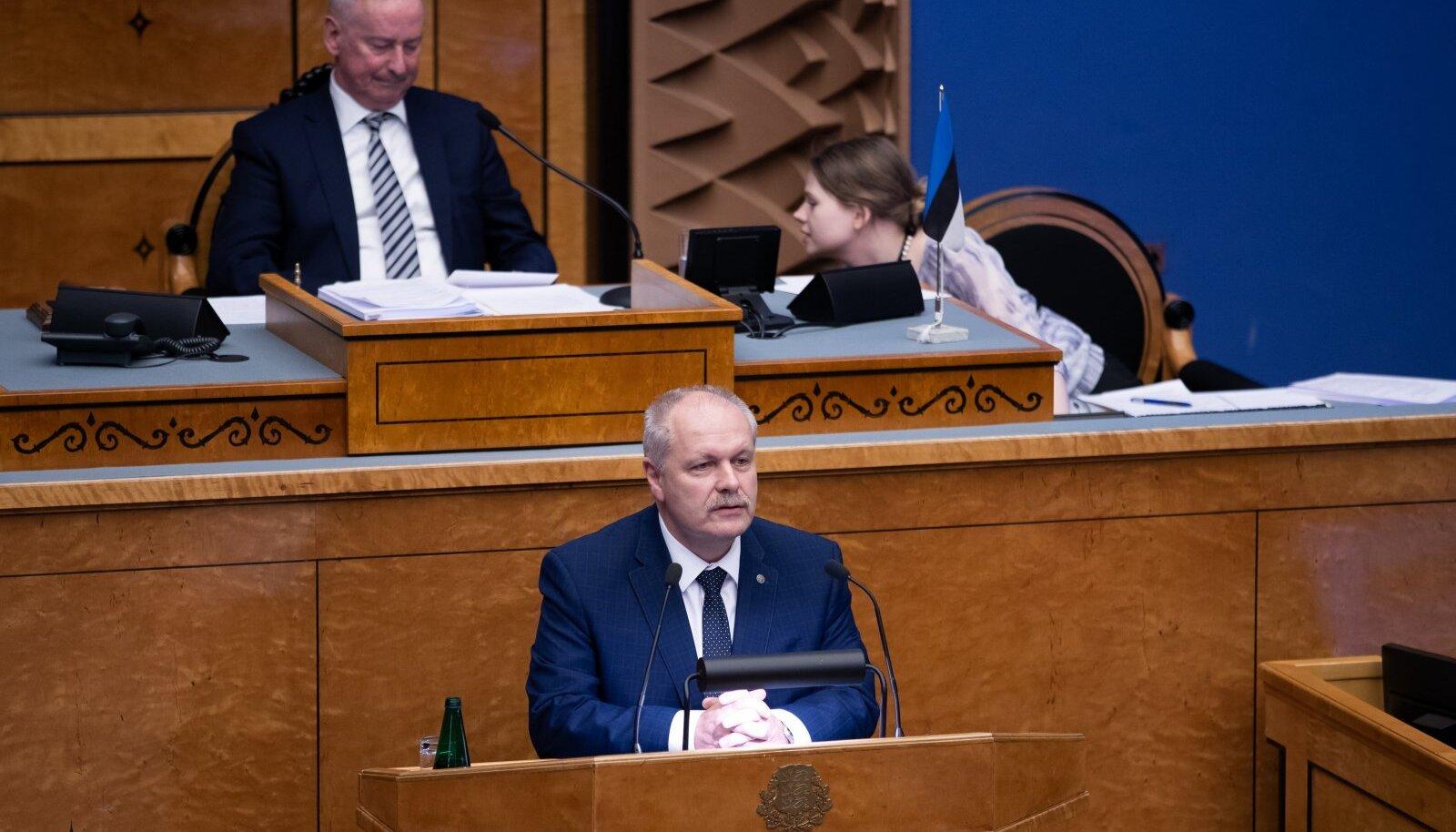Tallinn, 29.01.2020. Pensionireformi hääletamine riigikogus.