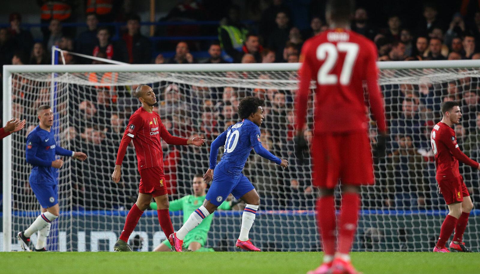 Willian on löönud Liverpoolile värava