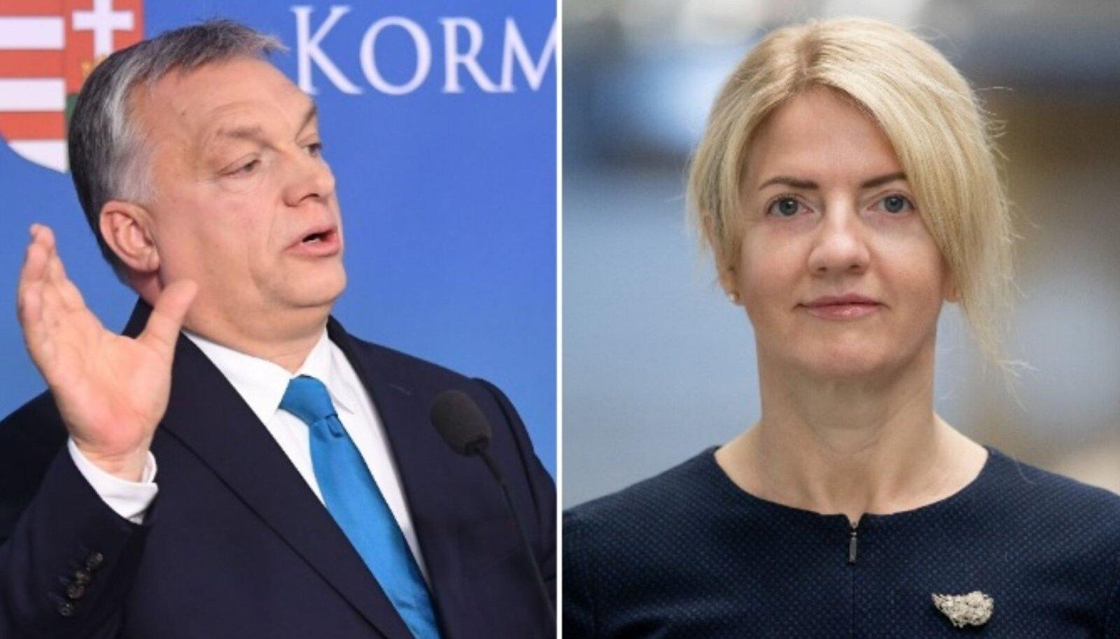 Viktor Orbán ja Eva-Maria Liimets