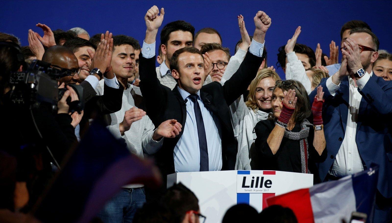 39-aastane EmmanuelMacron on noorim presidendikandidaat ajal, kui prantslased soovivad poliitikasse värskust.