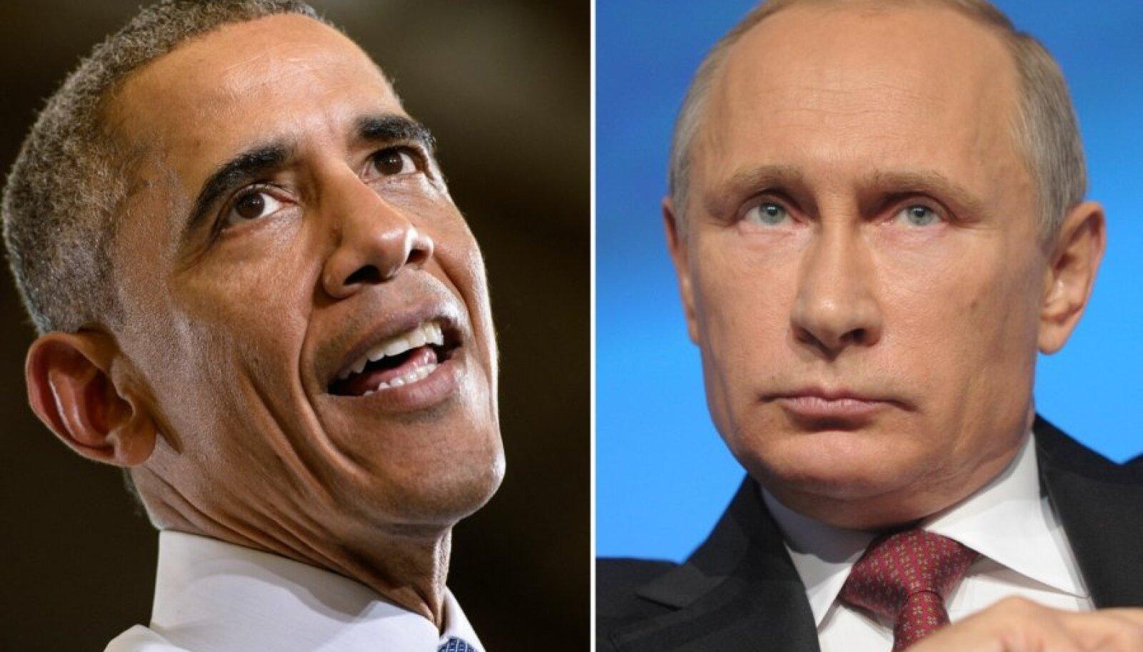 Venemaa president Vladimir Putin ja USA president Barack Obama.