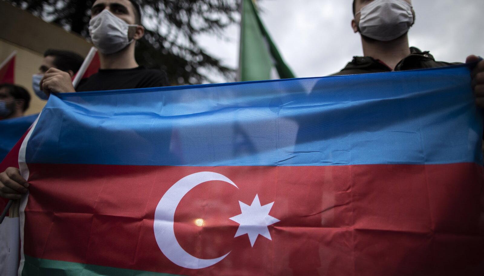 Акция в Турции в поддержку Азербайджана