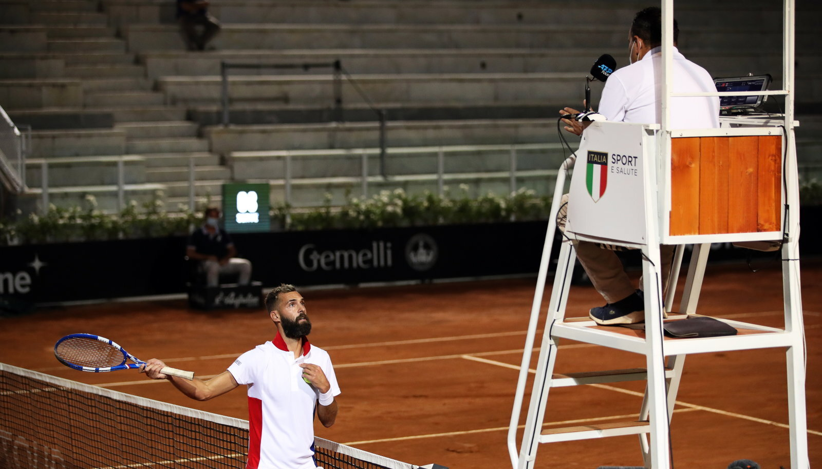 """Tennisemaailma uus """"pahapoiss"""" Benoit Paire."""