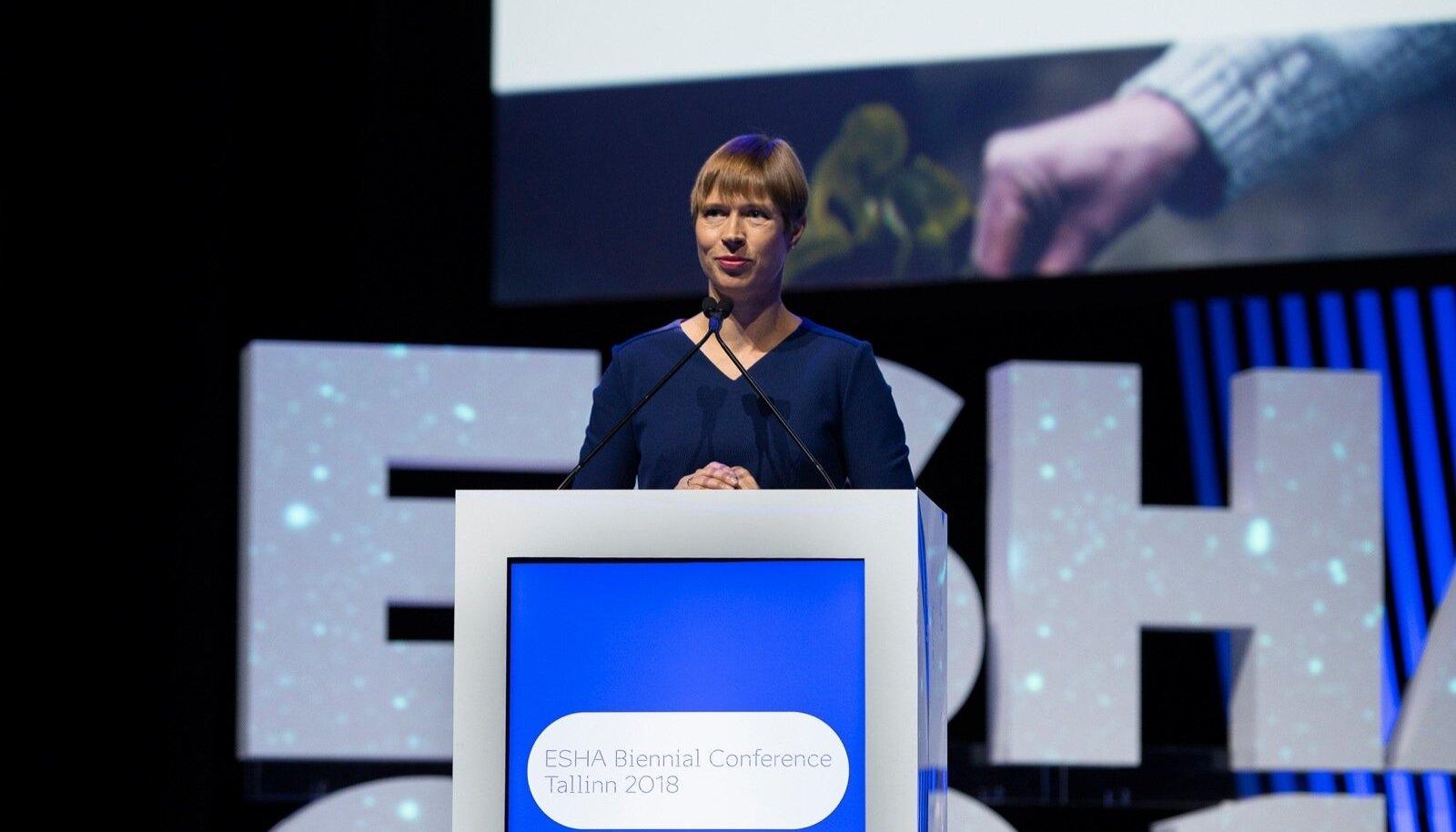 Kersti Kaljulaid EHSA biennaalil