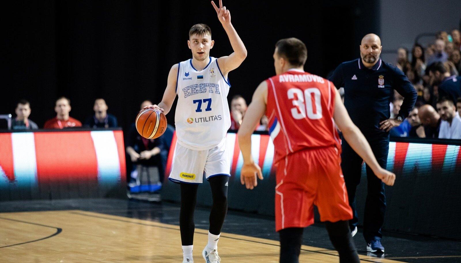 Eesti korvpallikoondis alistas Saku Suurhallis 2019 aasta MM-i valiksarjas Serbia 71 : 70.