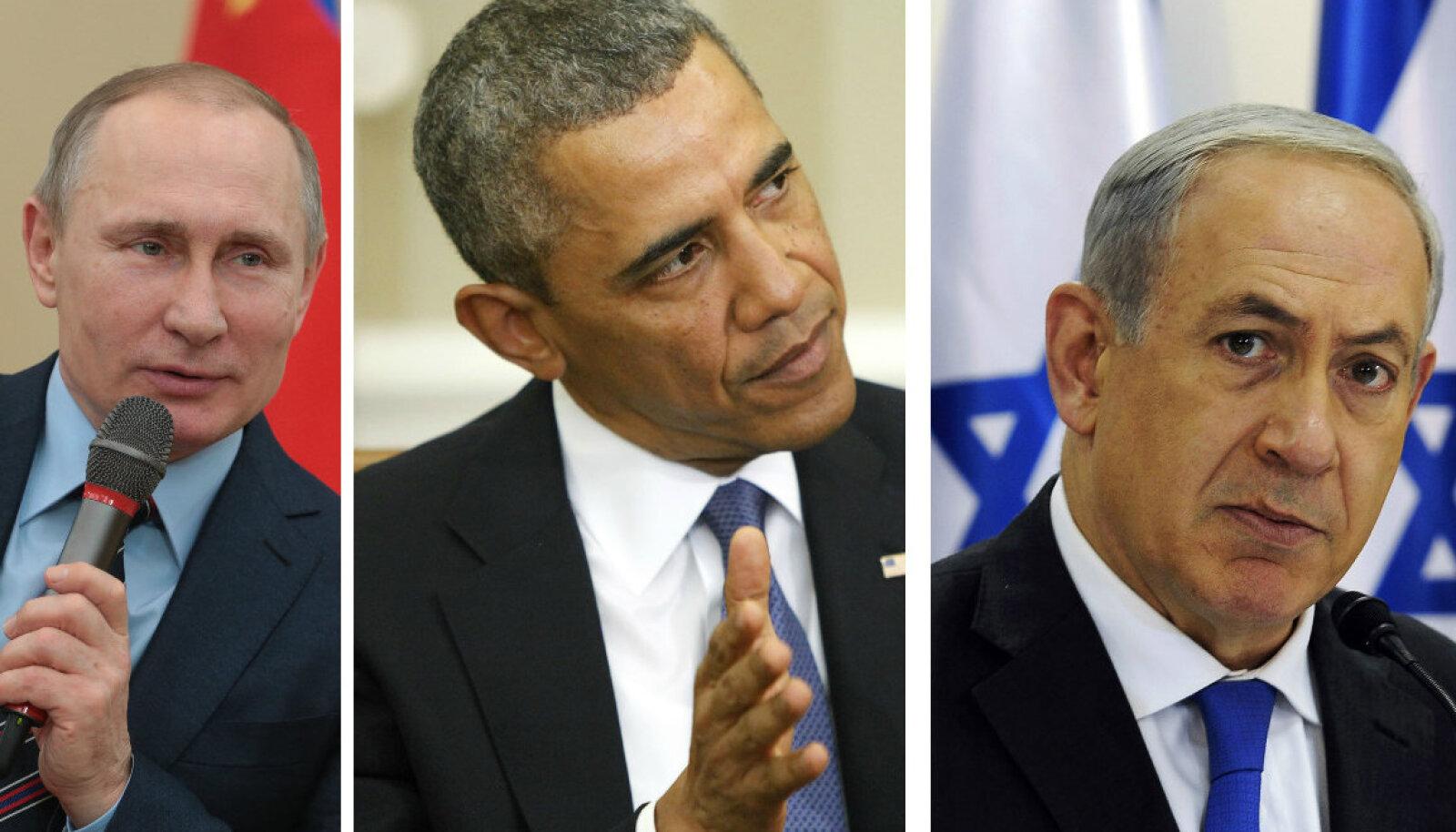 Vladimir Putin, Barack Obama, Benjamin Netanyah
