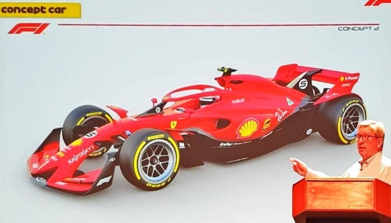 Selline võib 2021. aastal välja näha Ferrari vormel.
