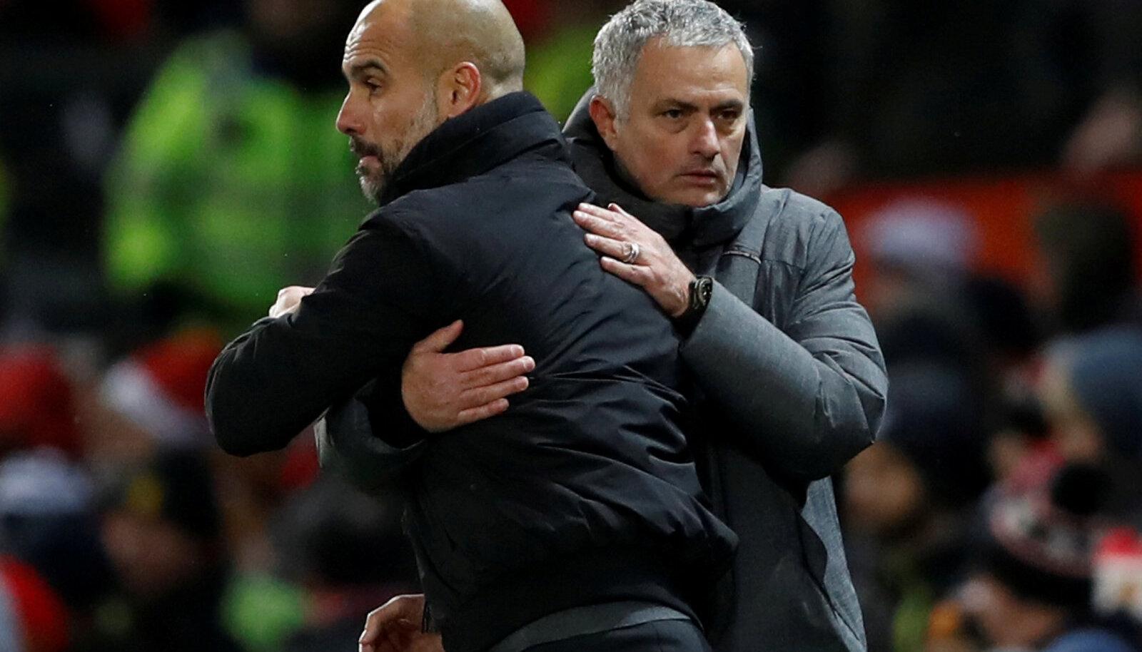Pep Guardiola ja Jose Mourinho