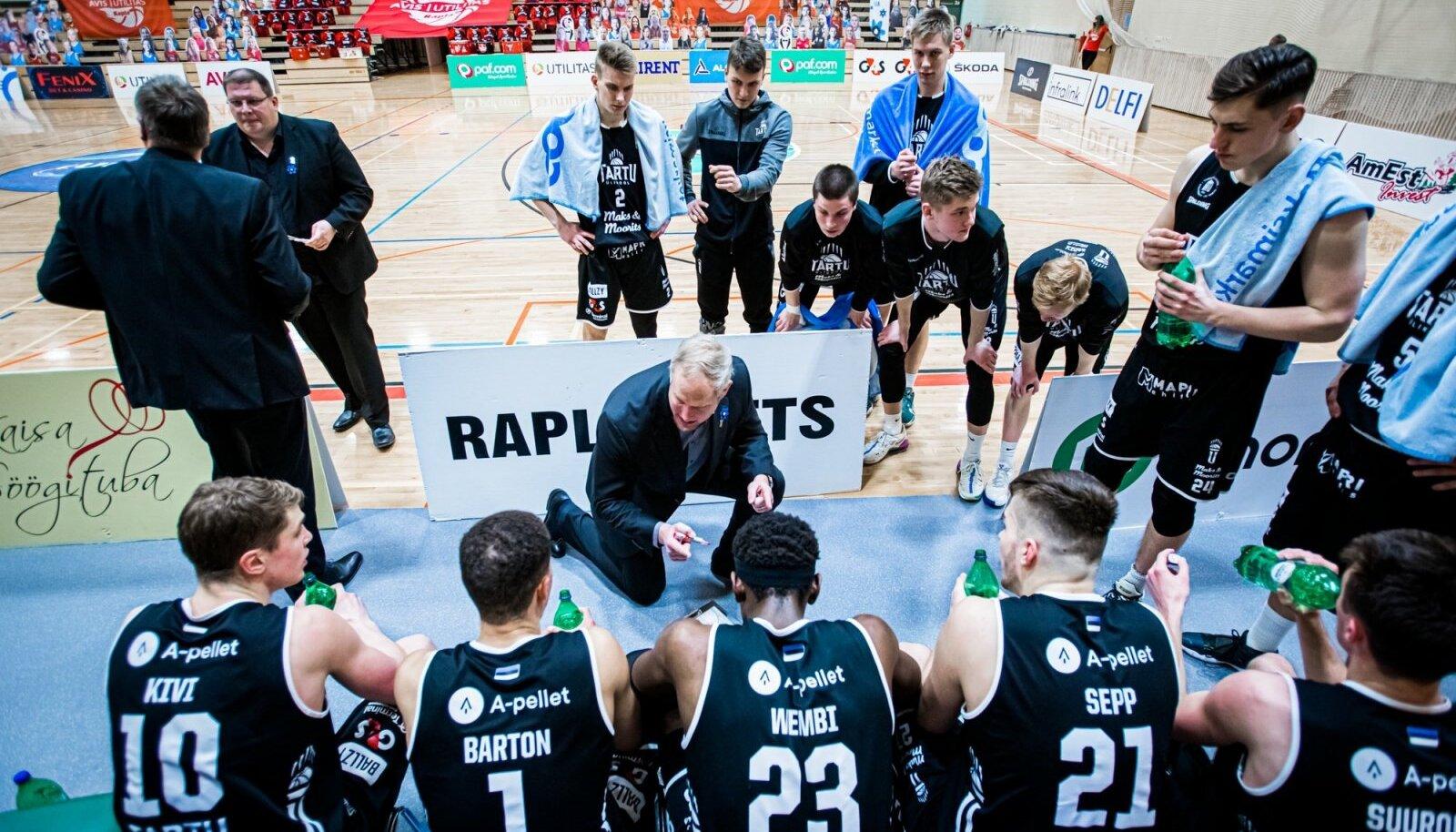 Tartu Ülikooli meeskond oli tänavu koduses meistriliigas ülekaalukalt noorima koosseisuga.