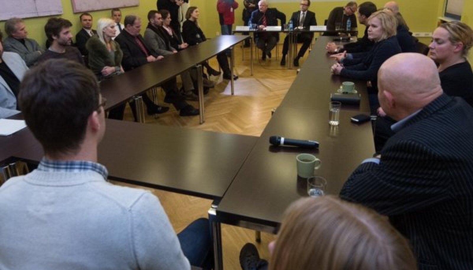 Loomeliitude esindajate kohtumine Rein Langiga