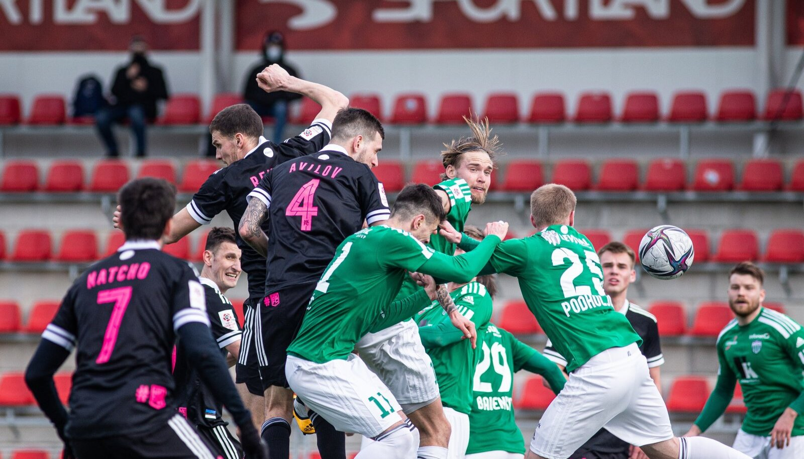 FCI Levadia (rohelises) vs Nõmme Kalju.