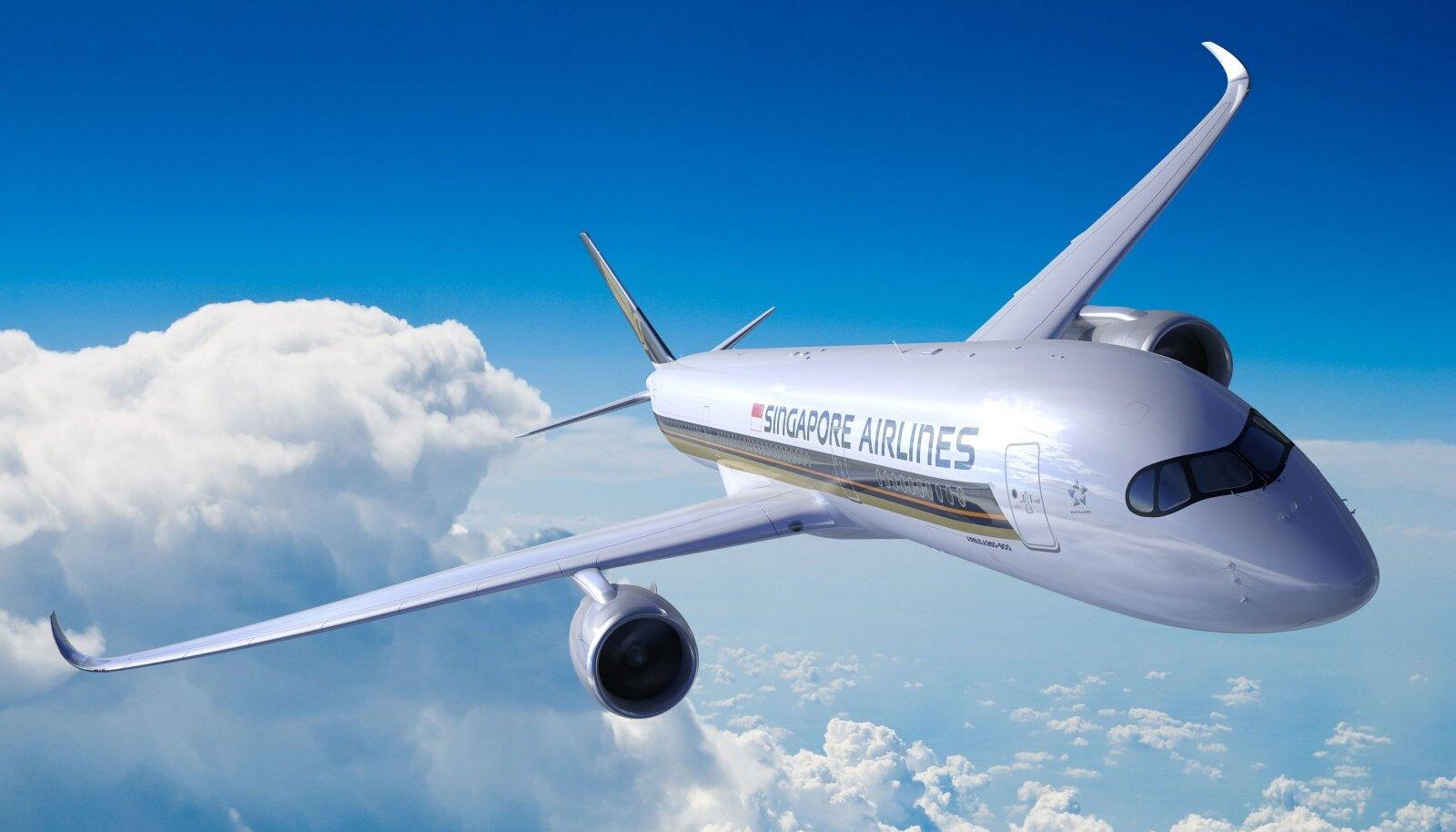 Singapore Airlinesi A350-900ULR Airbus lennuk