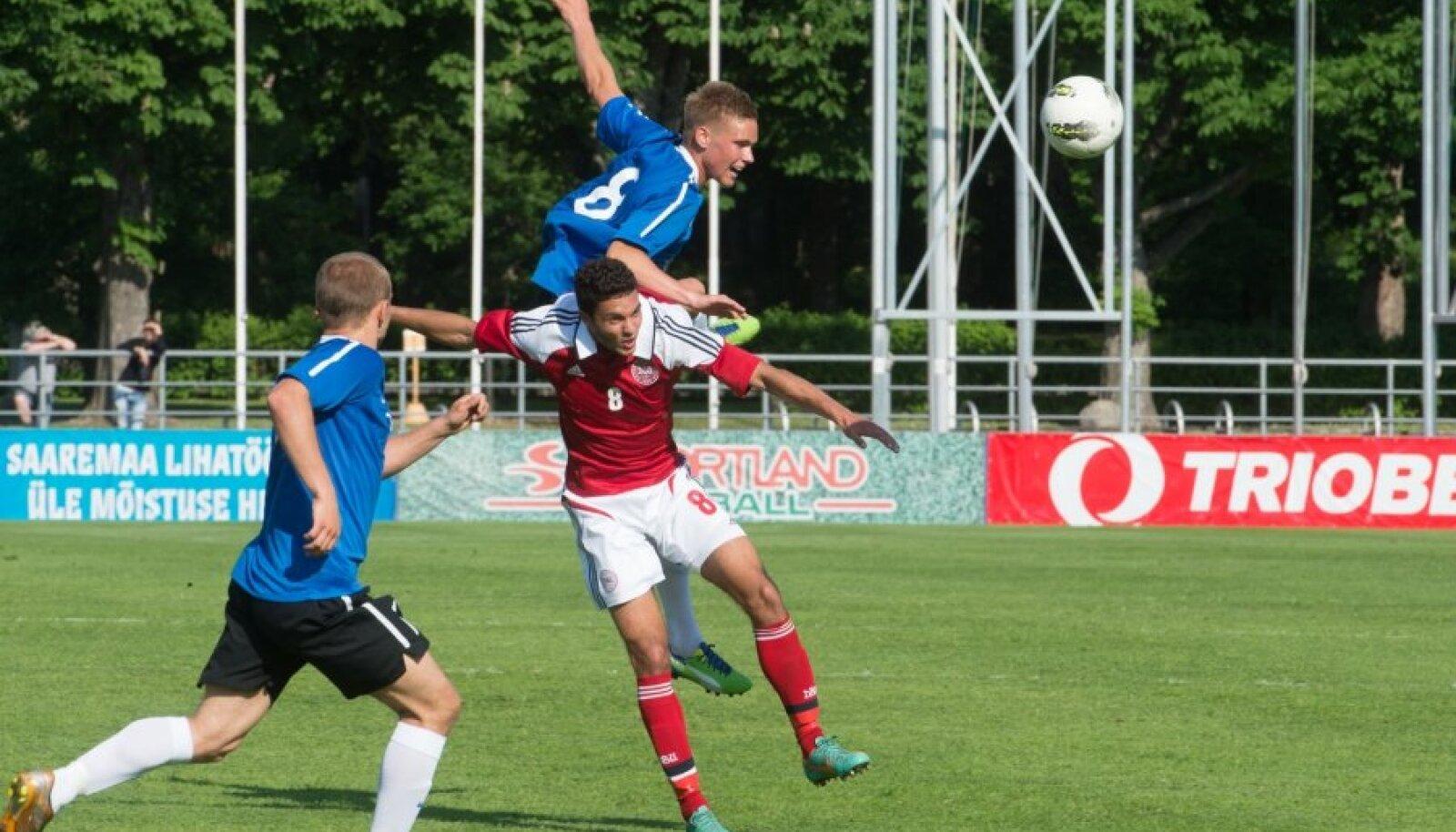 Eesti - Taani U21 valikmäng Kadrioru staadionil.