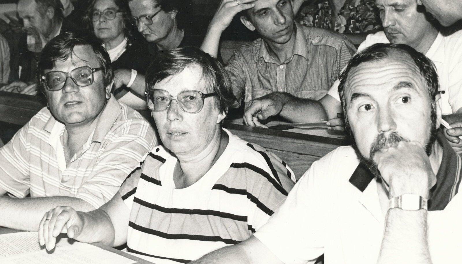 Peeter Vihalemm, Marju Lauristin ja Rein Veidemann
