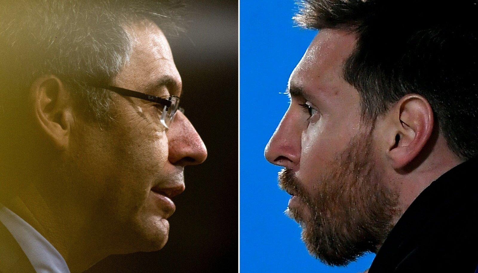 Josep Maria Bartomeu (vasakul) ajastu sai läbi. Kui pikalt püsib klubis veel Lionel Messi?