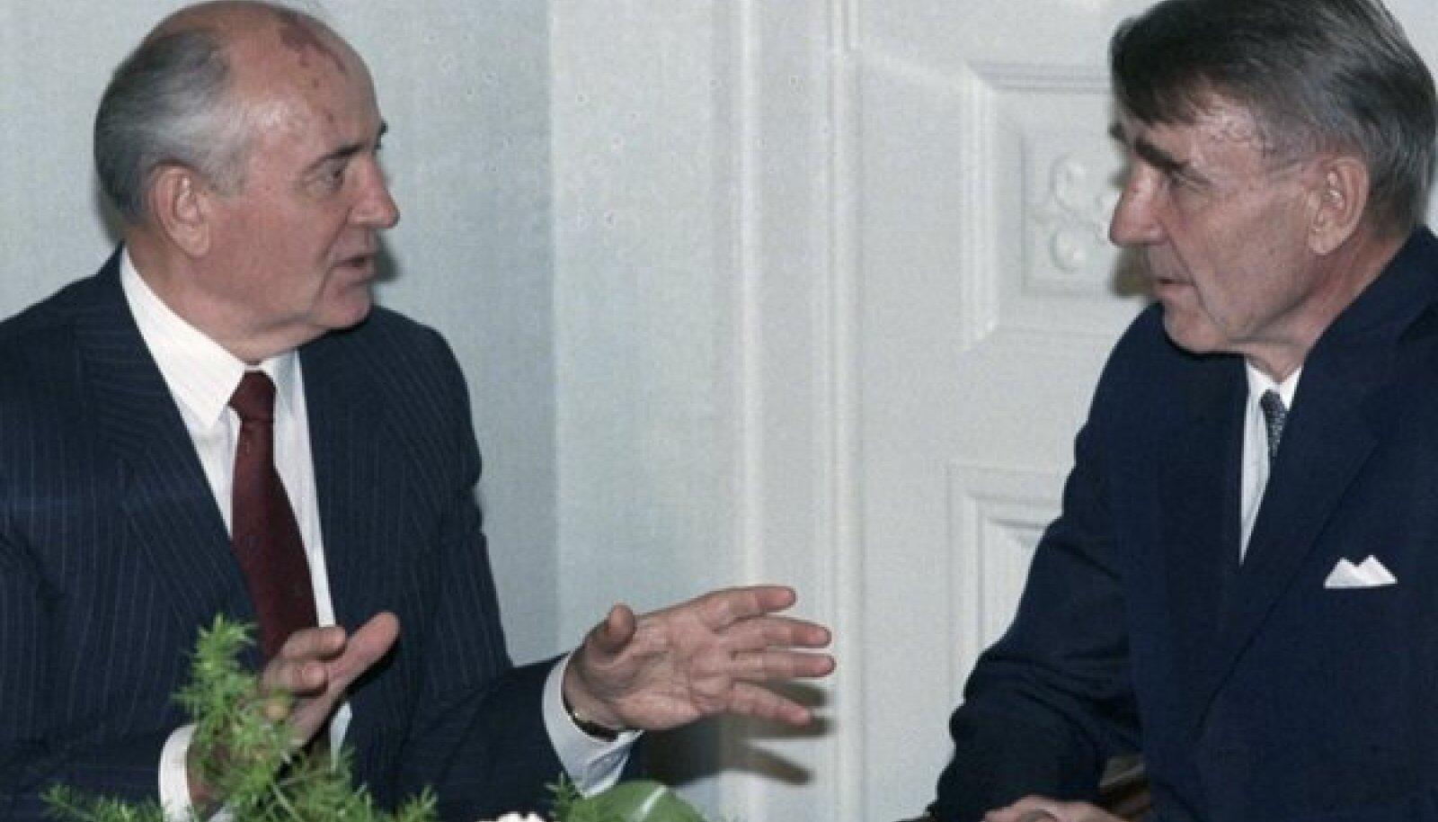 Mihhail Gorbatšov ja Mauno Koivisto
