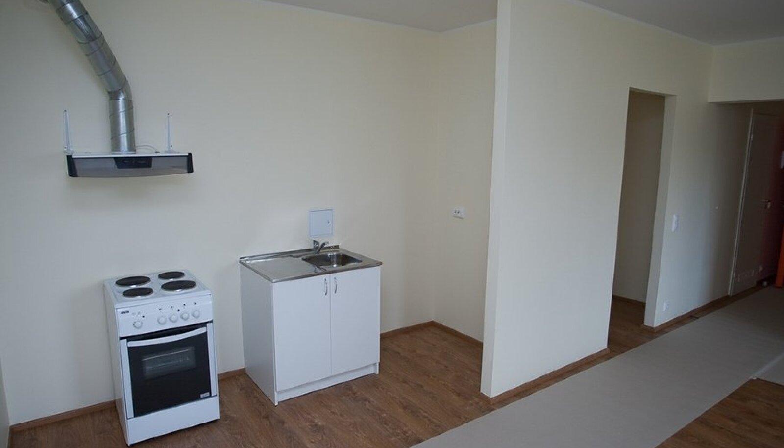 Niisugune nägi välja korter Tallinnas neli aastat tagasi avatud Raadiku munitsipaalmajas.