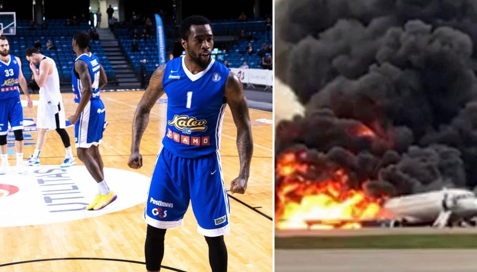 Kalev/Cramo korvpallimeeskond oli eile Šeremetjevo lennujaamas, kus valitses pärast lennukiõnnetust kaos.