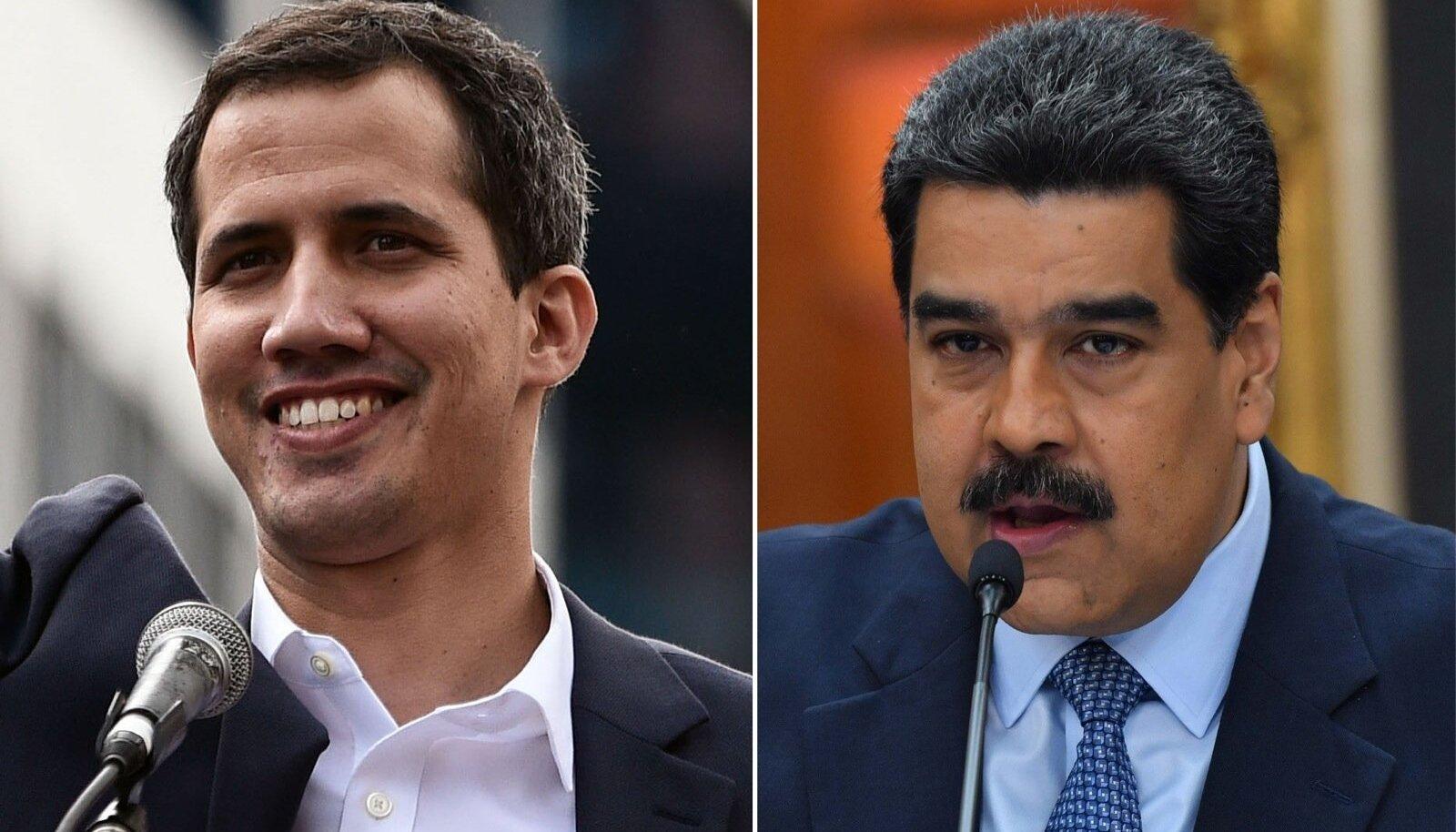 Juan Guaidó ja Nicolás Maduro