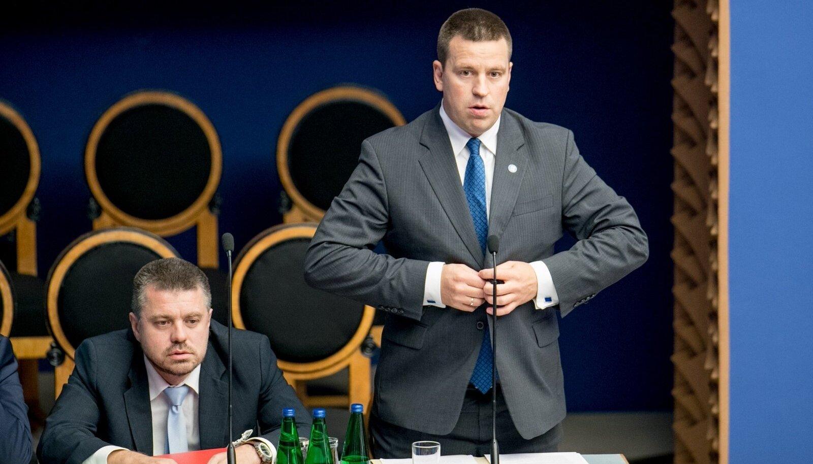 Jüri ratas ja Urmas Reinsalu riigikogu infotunnis