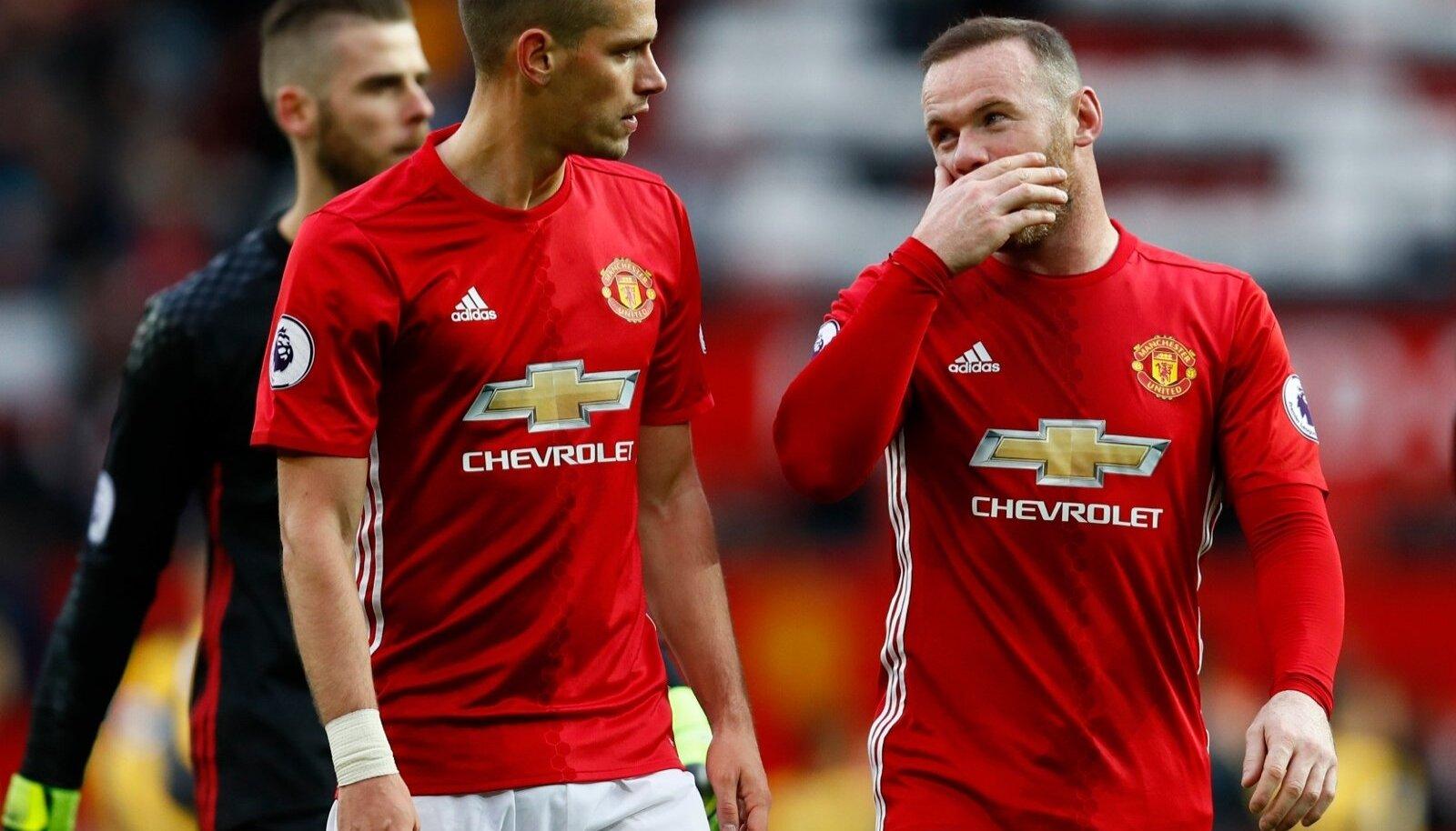 Morgan Schneiderlin ja Wayne Rooney