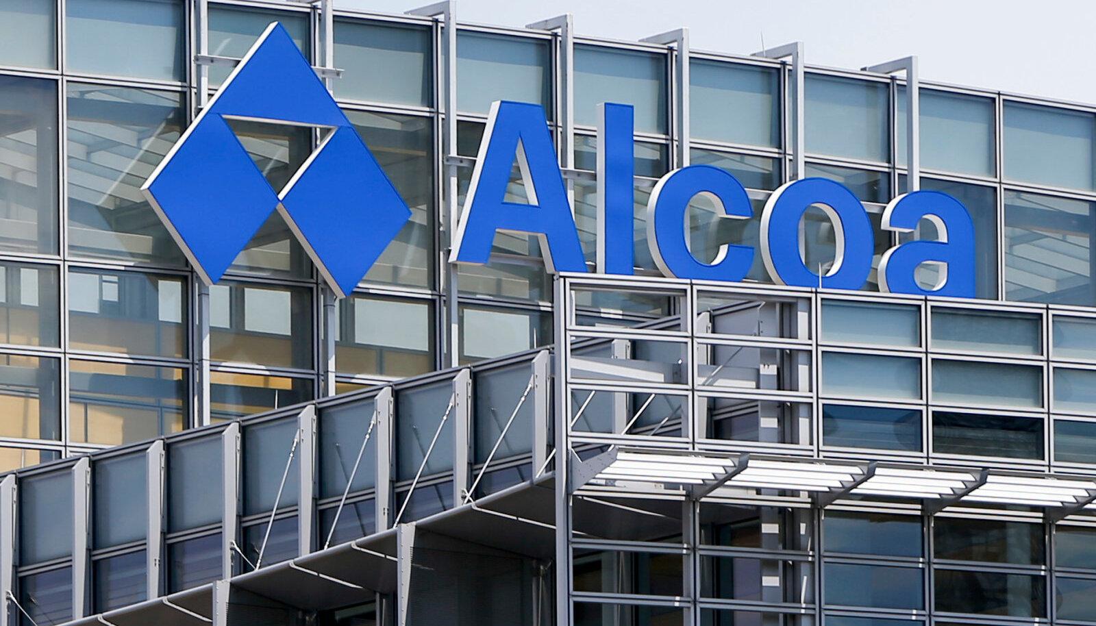 Alcoa logo USAs Pittsburghis asuval ettevõtte peakontoril