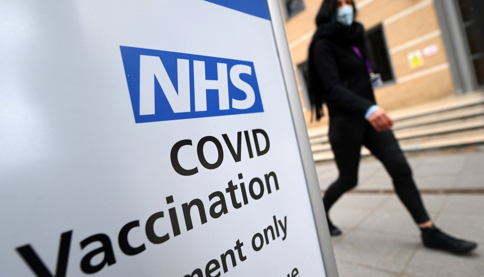 Vaktsineerimiskeskus Londonis 7. aprillil