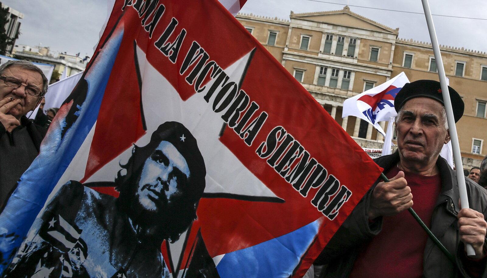 Kreeka kommunistide meeleavaldus Ateenas