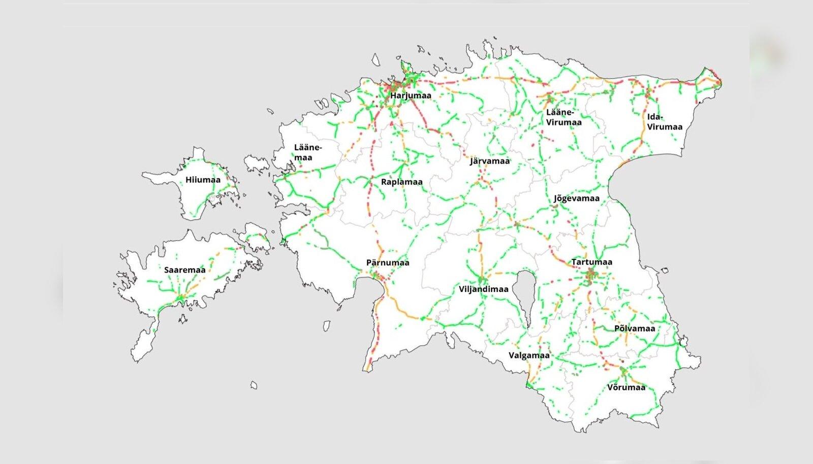 Tohutu liiklusrikkumiste andmebaas näitab, et politsei on mõned Eesti teed unustanud