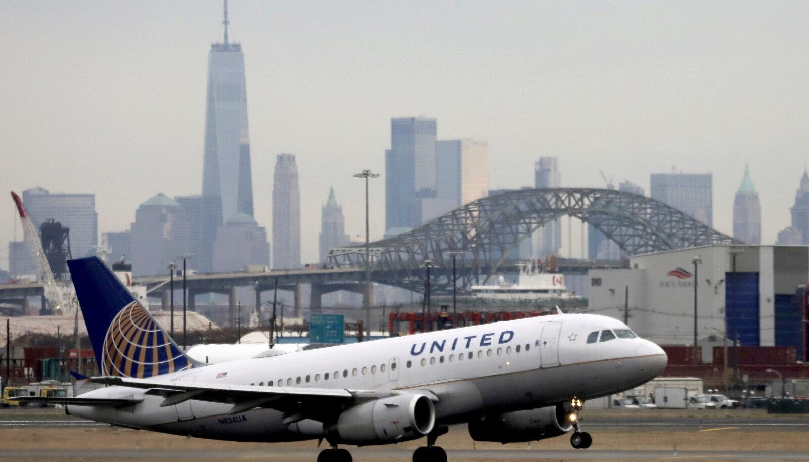 Lennufirma United Airlines lennuk New Yorgis