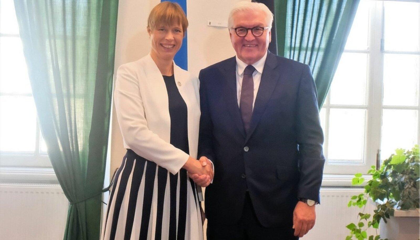 Kaljulaid kohtus Lätis Steinmeieriga