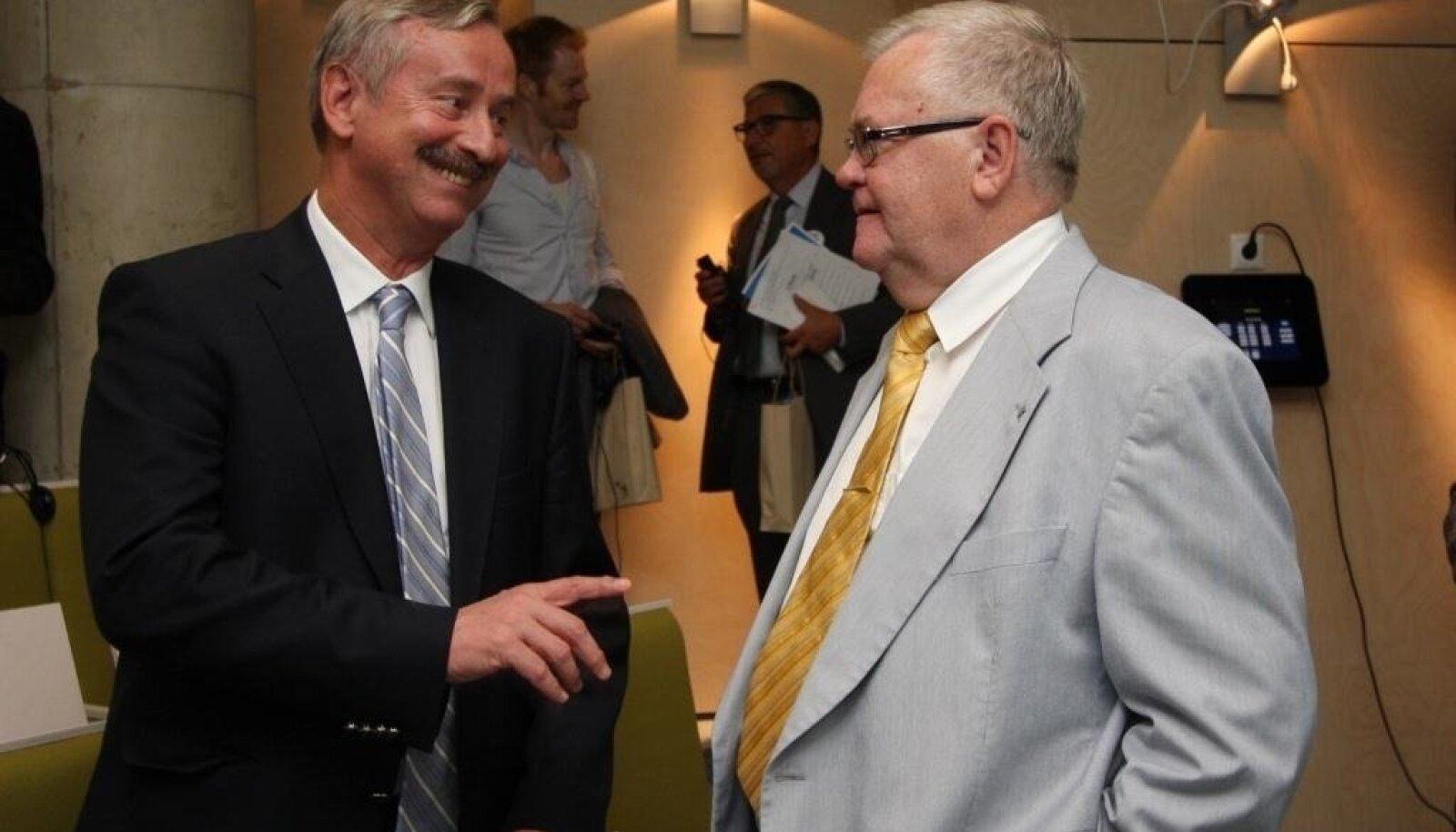 Siim Kallas ja Edgar Savisaar