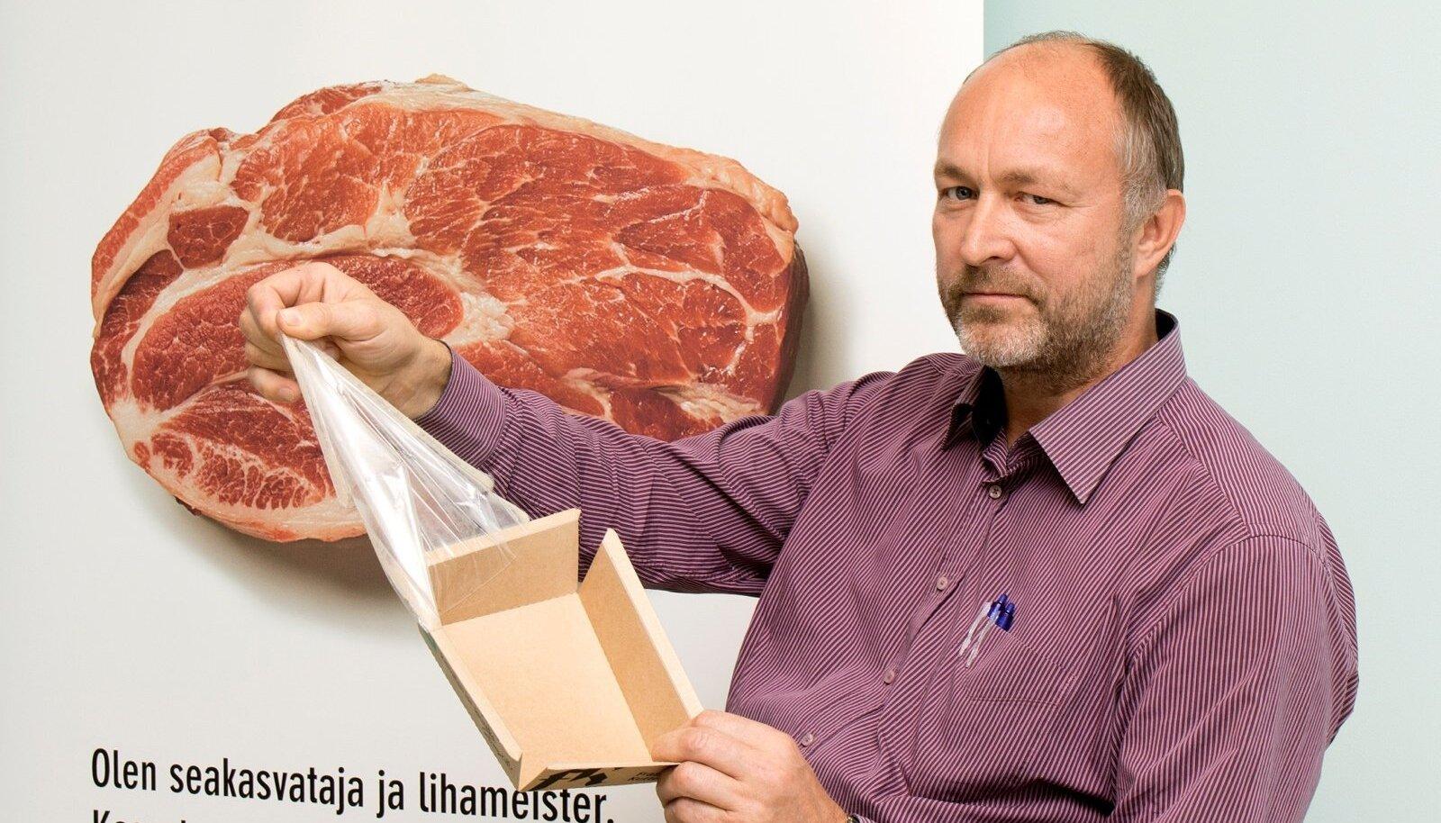 """""""Meie liha on värske ja tootepakendid on papist – nii säästame loodust,"""" teatab Raul Maripuu."""