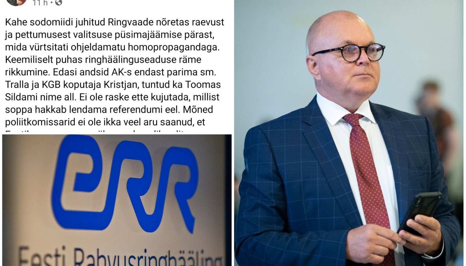 Urmas Reitelmann ja tema postitus.