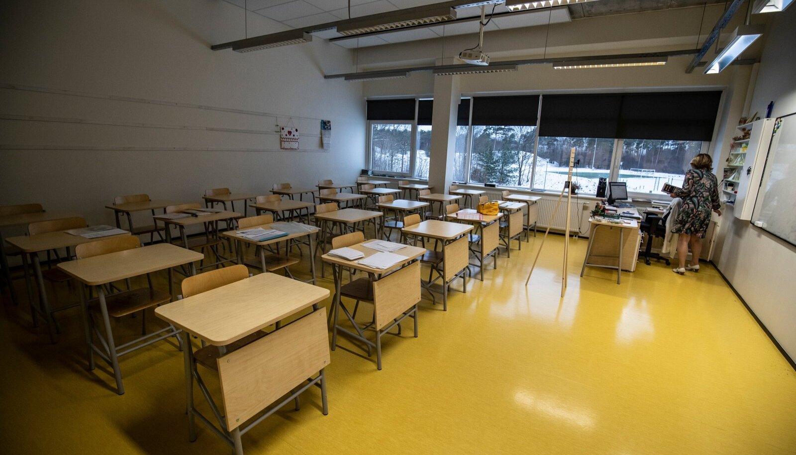 Koroonaajastu tund Keila koolis 8.01.2021