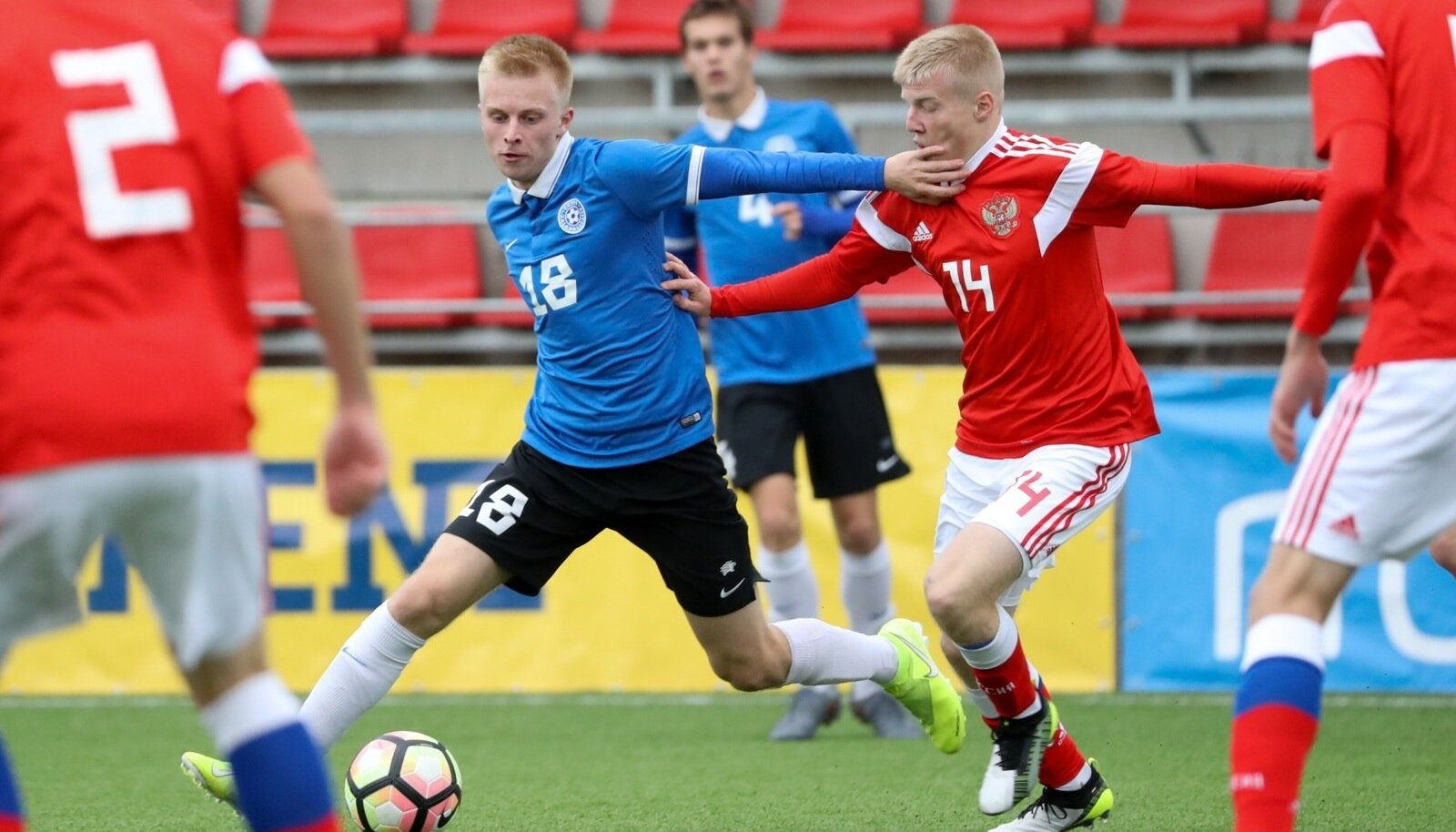 Eesti ja Venemaa U19 sõprusmäng.